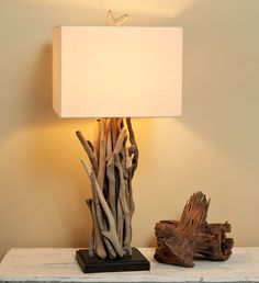 drift wood lamp