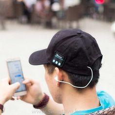 Унисекс Bluetooth шапка с козирка и слушалки