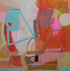 "Artist Sally King Benedict  ""Tea Party"" 48X48 Oil & enamel ~ love it"