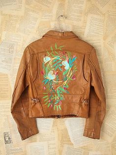 Vintage Lizzy Janssen Hand-Painted Leather Jacket. http://www.freepeople.com/vintage-loves-brushed-beauties/vintage-lizzy-janssen-hand-painted-leather-jacket-26722587/