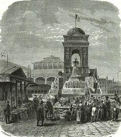 Paris 1er - Square des Innocents - PARIS HISTORIQUE Saint Germain, Halles, Place Vendôme, Champs, Old Photos, Big Ben, Taj Mahal, History, Pictures