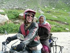 Robbie was always lucky with the ladies... on route through Spiti with Yak Trak on a Zen Bullet Himalayan Bike Ride