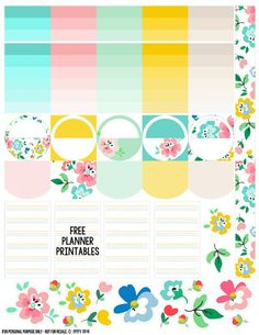 Free Floral Planner Stickers {Page Three} from Free Pretty Things for You
