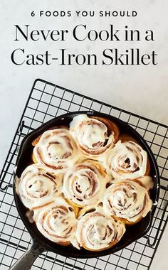 6 Foods You Should Never, Ever Cook in a Cast-Iron Skillet via @PureWow