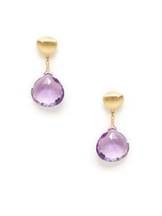 Aruba Gold & Amethyst Drop Earrings by Marco Bicego on Gilt.com