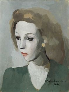 Marie Laurencin hung out with Picasso and Georges Braque, was muse and mistress to Apollinaire, and early in her career was cons. Art And Illustration, Illustrations, Art Visage, Art Français, Georges Braque, Vintage Artwork, French Artists, Face Art, Art Techniques