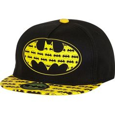 River Island Boys black Batman snapback hat ($16) ❤ liked on Polyvore featuring hats, batman, accessories and snapbacks