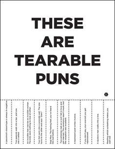 tearable puns | Tumblr