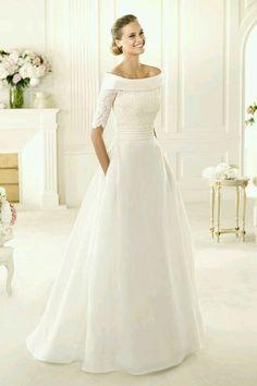1a65b68d73 As 17 melhores imagens em Vestidos com bolsos | Bride groom dress ...