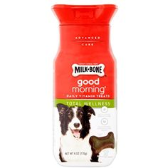 Milk Bone Good Morning Total Wellness Daily Vitamin Dog Treats, 6-Oz. Bottle --- For you to view further for this item, visit the image link. (This is an affiliate link and I receive a commission for the sales)