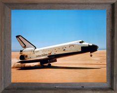 NASA Space Shuttle Blastoff Challenger Wall Decor Golden Framed Picture 18x22