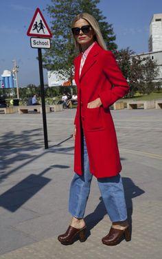Laura Bailey wearing Zanzan 'Vesuvio' sunglasses at London Fashion Week SS16 available on www.zanzan.co.uk