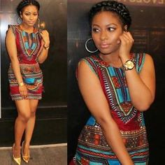 f5f258fe184e77 Sleeveless Women Summer Dress Casual Traditional African Print Party Mini  Dress Mode Africaine, Robe Pagne