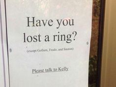 Lost a ring?