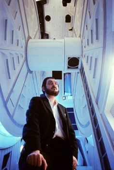 Stanley Kubrick on the set of '2001- A Space Odyssey', circa 1967. Photo by Jean-Philippe Charbonnier. Stanley Kubrick, Science Fiction, Fiction Movies, Flying Superheroes, Top Photos, Pictures, 2001 A Space Odyssey, Fritz Lang, Film School