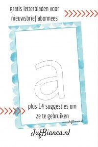 Gratis letterbladen voor nieuwsbrief abonnees - JufBianca.nl