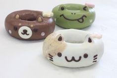 Whet your Appetite with Cute Kawaii Animal Donuts Cute Donuts, Mini Donuts, Doughnuts, Homer Simpson, Cute Food, Yummy Food, Japanese Animals, Doughnut Shop, Kawaii Dessert