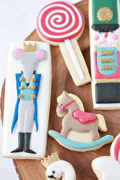 Pico Projector, Arkon Mount and Nutcracker Decorated Cookies Halloween Cookies, Holiday Cookies, Nutcracker Christmas, Nutcracker Ornaments, Christmas 24, Xmas, Snowflake Cookie Cutter, Cut Out Cookie Recipe, Horse Cookies