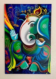 Worli Painting, Oil Painting Pictures, Budha Painting, Canvas Painting Tutorials, Kerala Mural Painting, Lord Ganesha Paintings, Ganesha Art, Krishna Painting, Madhubani Painting