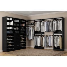 Home Decorators Collection Calabria Walk In 15 in. D x 243 in. W x 84 in. H Twilight Wood Closet System