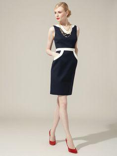 Milly  Doris Contrast Trim Dress
