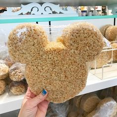 Dear Disneyland, can we please get these GIANT Krispie Treat Mickey Ears in our bakeries like Magic Kingdom?! These are the coolest!!!