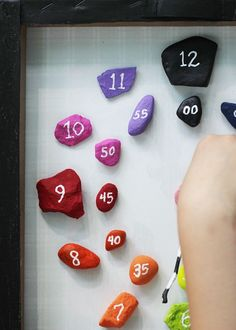 Make this fun learning game from rocks! Help your children learn how to tell time, figure out how much time has elapsed, and discover the world of time zones. Fun Learning Games, Educational Activities, Preschool Activities, Games For Kids, Kids Learning, Toddler Games, Time Activities, Learning Spanish, Clock Games