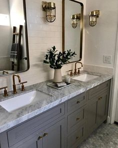 Remodeling the master bathroom one project at any given time! #modernBathroom Modern Farmhouse Bathroom, Small Bathroom, Bathroom Ideas, Master Bathrooms, Zen Bathroom, Bathroom Inspo, Master Bathroom Remodel Ideas, Remodled Bathrooms, Bathroom Accesories