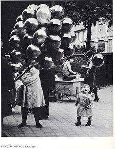 """Le premier Ballon au Parc Montsouris"", Paris by George Brassai Old Pictures, Old Photos, Vintage Photographs, Vintage Photos, Street Photography, Art Photography, Brassai, Harlem Renaissance, Black And White Pictures"