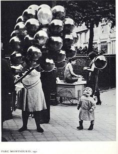 George Brassai -- Le Premier Ballon au Parc Montsouris, Paris, 1931-1934