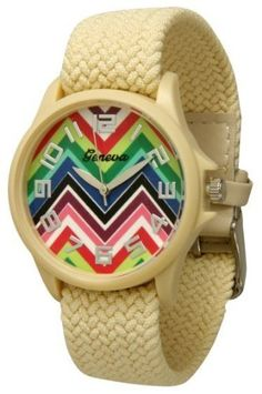 http://interiordemocrats.org/geneva-braided-fabric-rainbow-chevron-face-watchcream-p-5794.html