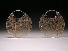 Leaf Encasement Earrings Large by LuanaCoonen on Etsy