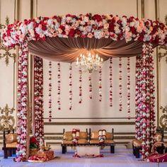 Diy Wedding Ceremony Ideas Receptions New Ideas Wedding Hall Decorations, Desi Wedding Decor, Marriage Decoration, Wedding Mandap, Diy Wedding, Trendy Wedding, Fruit Wedding, Wedding Venues, Garden Wedding