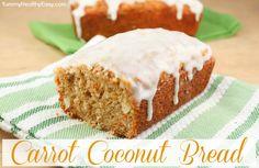 Carrot Coconut Bread with Cream Cheese Glaze