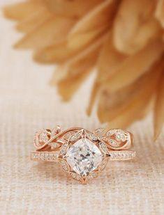 Natural 0.29CTW Blue Sapphire Female Ring,Vintage Engagement Ring,Promise Ring,Flower Design,14K Solid White Gold Ring,Gift for Lovers