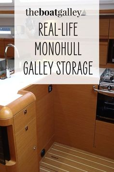 14 photos from a Caliber 40 to give you ideas for monohull galley storage. Step-by-step organizational tips to stow everything securely for easy use.