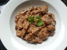 Mushroom stroganoff. Looks a bit hmm. Tastes very yum.
