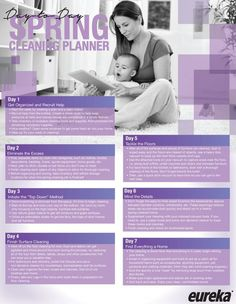 Spring Cleaning Planner check list. Break it down in stages to keep it simple! Click through to see in full size.