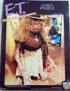 1982 E.T. The ExtraTerrestrial 15 Piece Puzzle by LEATHERGLACIER, $10.00