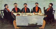 1906 The Feast of Five Princes Niko Pirosmani