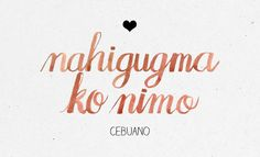 "In case ""mahal kita"" isn't working anymore. Bisaya Quotes, Dream Quotes, Funny Quotes, Tagalog Words, Tagalog Love Quotes, Rare Words, New Words, Filipino Words, Say I Love You"