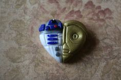 polymer clay Star Wars heart by Prismachick on Etsy, $4.50