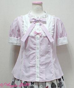 Pure Doll Blouse - Pink [172B05-060097-pk] - $134.00 : Angelic Pretty USA