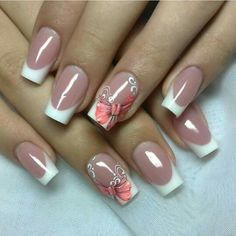 French Tip Nail Designs, Nail Art Designs Videos, French Nail Art, Pretty Nail Designs, Pretty Nail Art, Colorful Nail Designs, Toe Nail Designs, Beautiful Nail Art, Acrylic Nail Designs