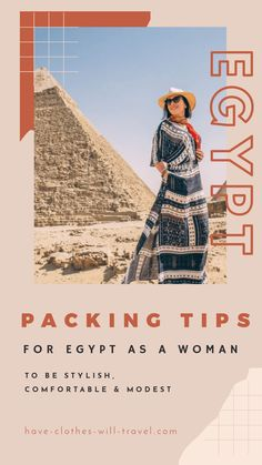 What to Pack for Egypt as a Woman to be Stylish, Comfortable & Modest. If you're wondering what to pack for Egypt as a stylish woman this post is breaking down  how to dress in this fascinating country + sharing some of my packing tips for this trip & outfits! #egypt #whattopack #packing #packingtips #travel #traveltips #pyramids #pyramidsofgiza