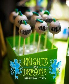 Knights and Dragon birthday party idea