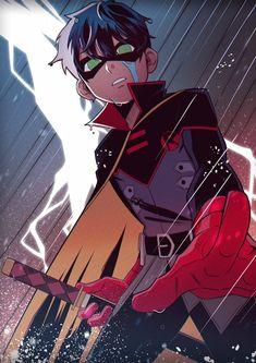 Superhero City, Superhero Family, Superhero Characters, Batman Family, Damian Wayne Batman, Batman Robin, Black Hair Anime Guy, Batman Fan Art, Arte Dc Comics