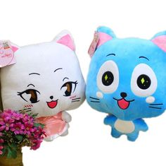 These Fairy Tail plushies come as a set of 2 - Happy and Carla! With their…