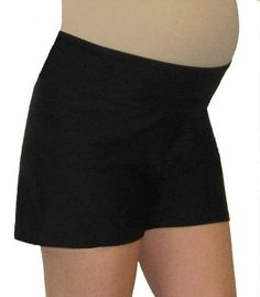 Mermaid Maternity Lower Panel Swim Shorts with Attached Brief