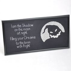 """Oggie Boogie """"I am the Shadow"""" cross stitch."""